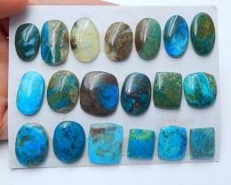 132.5cts  blue opal gemstone cabochon beads semi-gem (A191)