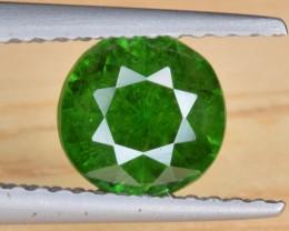 Natural Demantoid Garnet 1.54 Cts Faceted Gemstone VIVID Green