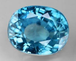 6 Cts Blue Zircon Awesome Color and Luster ~ Cambodia ZR23