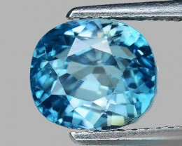 5.19 Cts Blue Zircon Awesome Color and Luster ~ Cambodia ZR26