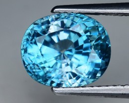 5.32 Cts Blue Zircon Awesome Color and Luster ~ CambodiaZR28