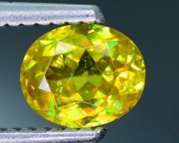Rare AAA Fire Malayaite Sphene Bright Yellow Badakhshan Sku-19