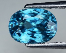4.94 Cts Blue Zircon Awesome Color and Luster ~ Cambodia ZR30