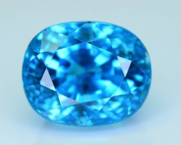 AAA Brilliance 5.77 ct Blue Zircon Cambodia SKU.9