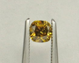 Cushion Natural Fancy Deep brownish greenish Yellow Diamond Certified by GI