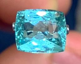 2.62 cts Blue Tourmaline - Paraiba Color - Bluish Green Glow!