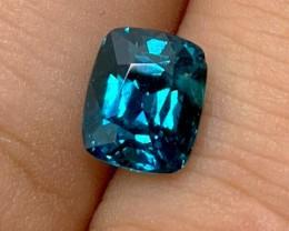 2.20 cts Dark Blue Tourmaline - Brazil - Indicolite - Fancy Cushion
