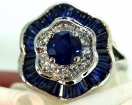 19-CTS SAPPHIRE RING BLUE AND WHITE   SG-2775