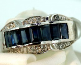 21.30-CTS SAPPHIRE RING BLUE AND WHITE   SG-2776