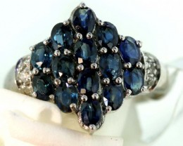 22.50-CTS SAPPHIRE RING BLUE AND WHITE   SG-2777