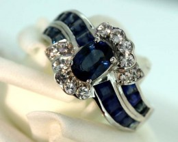 18.20-CTS SAPPHIRE RING BLUE AND WHITE   SG-2779