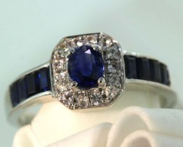 13.60-CTS SAPPHIRE RING BLUE AND WHITE   SG-2780