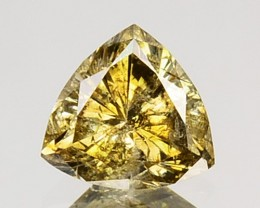 ~UNTREATED~ 0.35 Cts Natural Golden Champagne Diamond Trillion Africa
