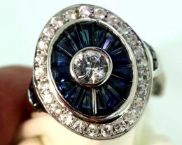 19.30-CTS SAPPHIRE RING BLUE AND WHITE   SG-2781