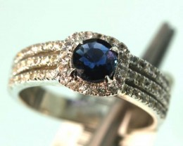 18-CTS SAPPHIRE RING BLUE AND WHITE   SG-2784