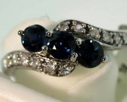 9-CTS SAPPHIRE RING BLUE AND WHITE   SG-2785