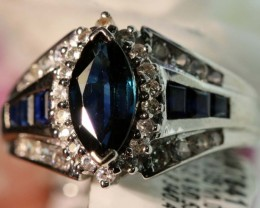 19-CTS SAPPHIRE RING BLUE AND WHITE   SG-2786