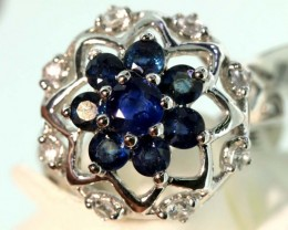 21.8-CTS SAPPHIRE RING BLUE AND WHITE   SG-2788