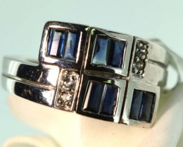 24-CTS SAPPHIRE RING BLUE AND WHITE   SG-2789