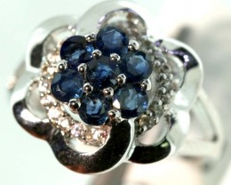 22.40-CTS SAPPHIRE RING BLUE AND WHITE   SG-2792