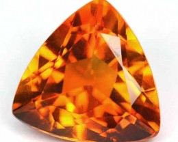 ~DAZZLING~ 5.30 Cts Natural AAA Golden Orange Citrine Trillion Brazil