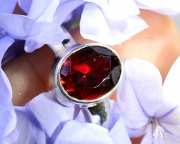 RING SIZE 8.5   GARNET RING WITH FACTORY DIRECT [SJ4762]