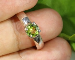 RING SIZE 7  PERIDOT-FACTORY DIRECT [SJ4774]