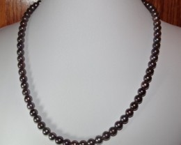BEAUTIFUL CULTURED BLACK PEACOCK PEARL NECKLACE