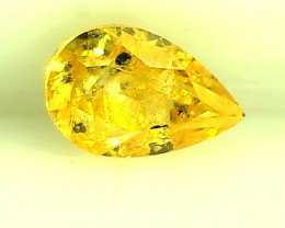 0.44ct Fancy Vivid Yellow Diamond , 100% Natural Untreated