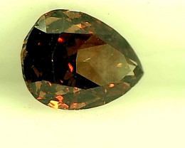 0.17ct Reddish Brown  Diamond , 100% Natural Untreated