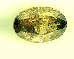 0.47ct Grayish Green Diamond , 100% Natural Untreated