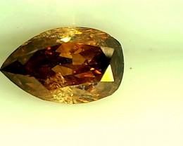 0.28ct Brownish Orange  Diamond , 100% Natural Untreated