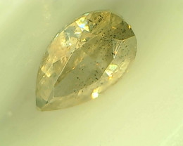 0.24ct Greenish Gray  Diamond , 100% Natural Untreated