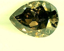 0.27ct Fancy Deep Greenish Brown Diamond , 100% Natural Untreated