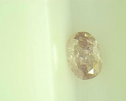 0.24ct Fancy Light Pink Diamond , 100% Natural Untreated