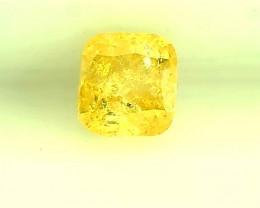 0.24ct Fancy Intense Yellow  Diamond , 100% Natural Untreated