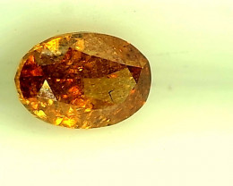 0.31ct Fancy Intense Reddish Orange  Diamond , 100% Natural Untreated