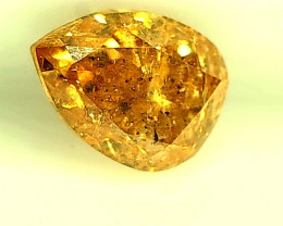 0.47ct Fancy Vivid Orange Yellow  Diamond , 100% Natural Untreated