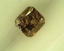 0.15ct Fancy Deep Brown  Purple Pink  Diamond , 100% Natural Untreated