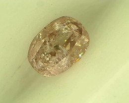 0.16ct Fancy Light Pink  Diamond , 100% Natural Untreated