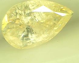 0.54ct   Light Yellow Diamond, 100% Natural Untreated