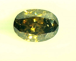 0.36ct Fancy Brownish Green  Diamond , 100% Natural Untreated