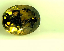 0.45ct Fancy Deep brownish Green  Diamond , 100% Natural Untreated