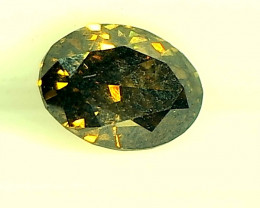 0.46ct Fancy Dark brownish Green Diamond , 100% Natural Untreated