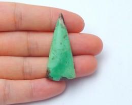 23cts Unique chrysoprase cabochon beads semi-gem (A221)