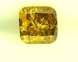0.38ct Fancy intense brownish Yellow  Diamond , 100% Natural Untreated