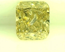 0.31ct Light Green  Diamond , 100% Natural Untreated