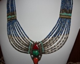 17 INCH BEAUTIFUL HANDMADE TRIBAL STYLED NECKLACE