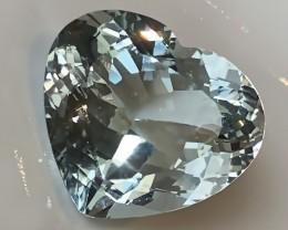 Prime 24.75ct Heart Facet Natural Blue Topaz