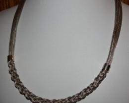 VERY INTERESTING 18 INCH  925 STERLING SILVER NECKLACE